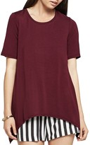 BCBGeneration Solid Arched-Hem Tee