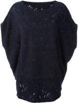 Drome laser cut blouse - women - Suede - L