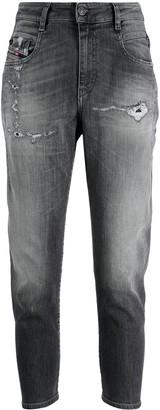 Diesel Cropped Distressed Boyfriend Jeans