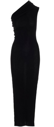Rick Owens One-Shoulder Ribbed Maxi Dress
