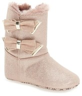 MICHAEL Michael Kors Infant Girl's 'Baby Joan' Sparkly Faux Fur Bootie