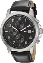 Tommy Hilfiger Men's 'Sport' Quartz Stainless Steel and Leather Casual Watch, Color: (Model: 1791364)