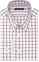 Geoffrey Beene Men's Fitted Check Point Collar Dress Shirt