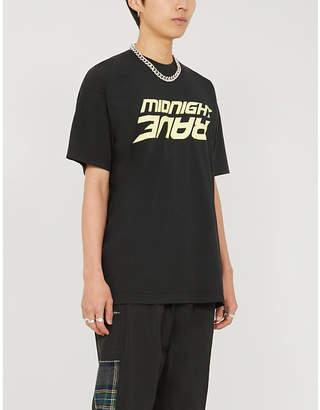 AWGE Graphic-print cotton-jersey T-shirt