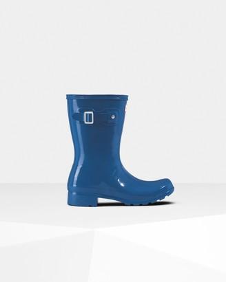 Hunter Women's Original Tour Foldable Gloss Short Rain Boots