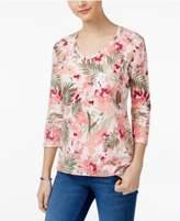 Karen Scott Floral-Print Top, Only at Macy's
