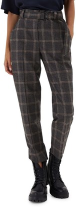 Brunello Cucinelli Windowpane D-Ring Wool Pants