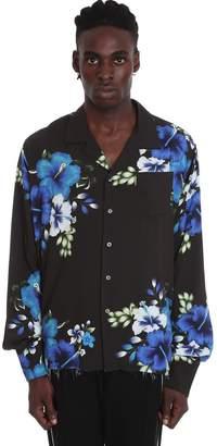 Rhude Hawaian Long Shirt In White Nylon