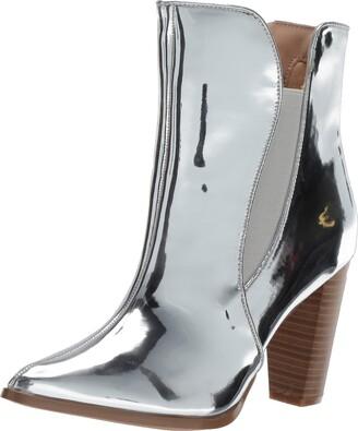 Penny Loves Kenny Women's AVID Fashion Boot White Shine Texture 7.5 Medium US