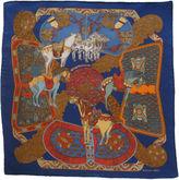 One Kings Lane Vintage Hermès Art des Steppes Pochette Scarf