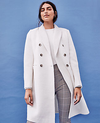 Ann Taylor Petite Double Breasted Chesterfield Coat