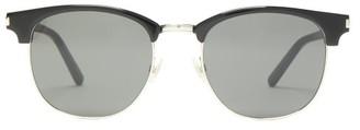Saint Laurent D-frame Metal And Acetate Sunglasses - Mens - Black