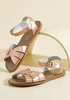 Salt Water Sandals Spritz of Salt Water Leather Sandal in Rose Gold in 9 UK