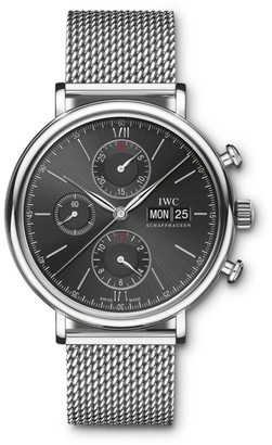 IWC Portofino Stainless Steel Mesh Bracelet Chronograph Watch
