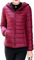 Shinekoo Women Winter Hooded Packable Light Weight Short Down Jacket Coat