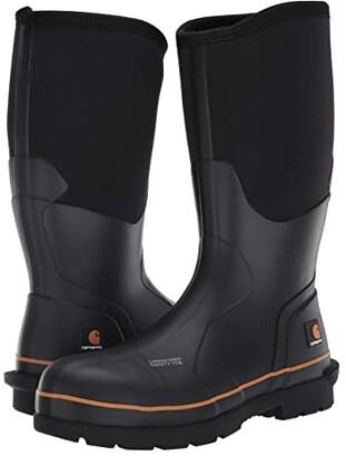 Carhartt 15 Waterproof Carbon Nano Comp Toe Rubber Boot (Black) Men's Work Boots