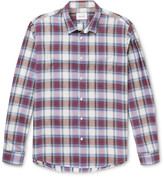 Steven Alan - Jasper Checked Cotton And Linen-blend Shirt