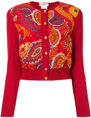 Celine Pre-Owned paisley print knitted cardigan