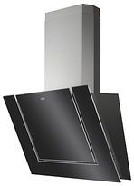 AEG DVB3850B Angled Chimney Cooker Hood, Black Gloss