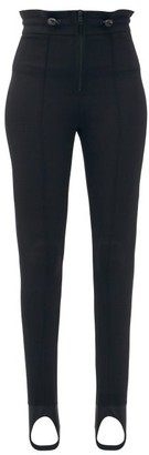 Fendi High-rise Soft-shell Skinny-leg Ski Trousers - Black