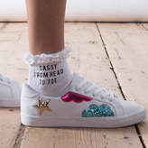 Rock On Ruby Sassy From Head To Toe Slogan Socks