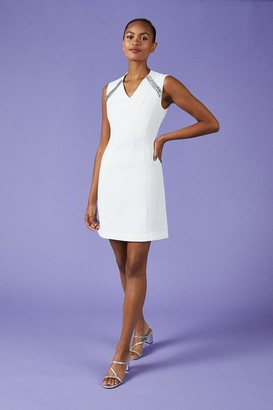 Coast V Neck Trim Dress