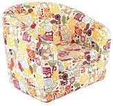Emall Life Kid's Armchair Children's Roundy Chair Cartoon Sofa Wooden Frame (Owl)
