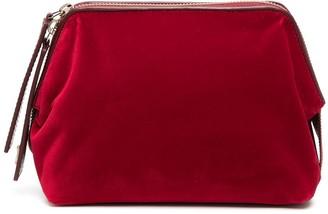 L'Autre Chose Small Velvet Clutch Bag