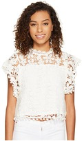Romeo & Juliet Couture Butterfly Sleeve Lace Top