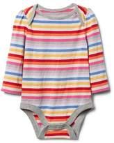 Gap Crazy stripe long sleeve bodysuit