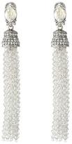 Oscar de la Renta Crystal Tassel C Earrings Earring