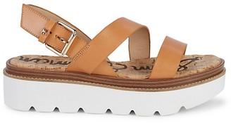 Sam Edelman Rasheed Leather Flatform Slingback Sandals