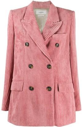 Etoile Isabel Marant Corduroy Double Breasted Blazer