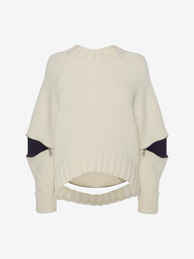 Alexander McQueen Slash Sleeve Knitted Sweater