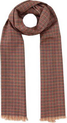 likemary Mens 100% Merino Wool Scarf Checks Heritage Traditional Plaid Handwoven Ethical Gift Burgundy Red