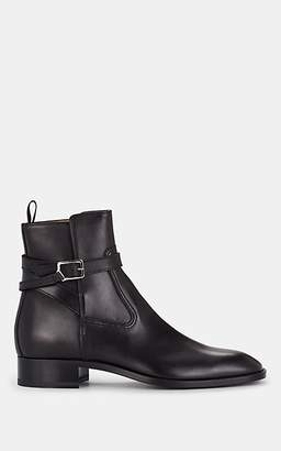 Christian Louboutin Men's Kicko Flat Leather Jodhpur Boots - Black