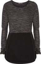 Vince Stretch-jersey and silk top