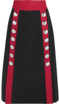 Dolce & Gabbana Embellished Wool-blend Skirt - Black