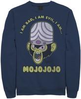 """Licensed Character Men's Cartoon Network Mojo Intro """"I Am Bad, I Am Evil, I Am... MOJOJOJO"""" Fleece"""
