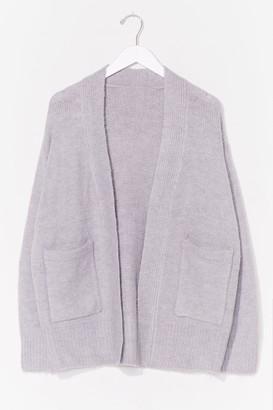 Nasty Gal Womens pocket open cardigan - Grey