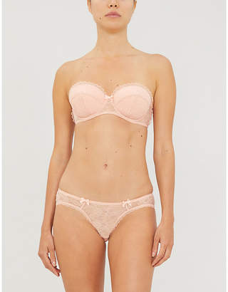 Agent Provocateur Hinda underwired lace and mesh strapless bra
