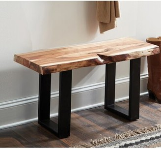 Bexton Live Edge Wood Two Seat Bench Foundry Select
