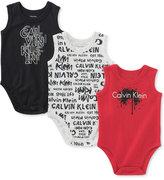 Calvin Klein 3-Pk. Sleeveless Bodysuits, Baby Boys (0-24 Months)