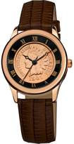 August Steiner Women's CN005R-AS Round Indian Head Penny Collectors Rose-Tone Coin Watch
