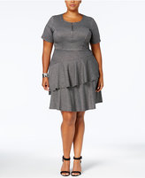 NY Collection Plus Size Fit & Flare Tiered Dress