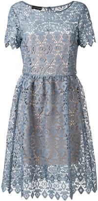 Emporio Armani geometric macramé dress
