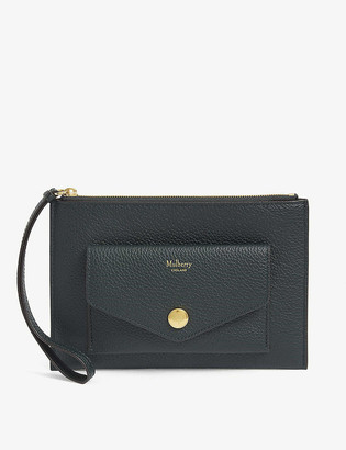 Mulberry Grained leather pocket wristlet
