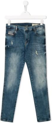 Diesel TEEN distressed skinny jeans