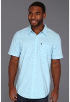 Quiksilver Hi Chi Fin S/S Button Up (Vintage Blue) - Apparel