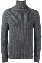 Z Zegna ribbed roll neck jumper